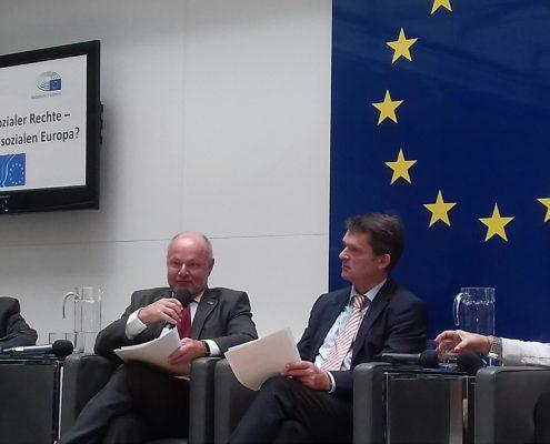 v.l.nr. DI Rudolf Kolbe, BUKO Präsidiumsmitglied, Dr. Marc Fähndrich, EU-Kommission